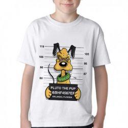 Camiseta Infantil Pluto prisão