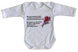 Roupa Bebê manga longa Doação de Órgãos