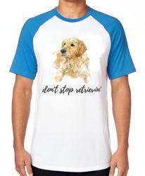 Camiseta Raglan Don't stop retrievin'