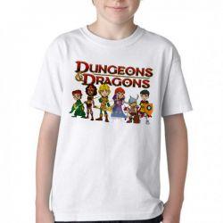 Camiseta Infantil Dungeons e Dragons caverna do dragão