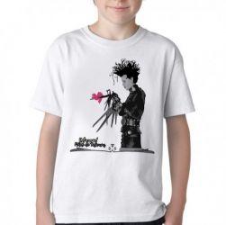 Camiseta Infantil Edward mãos de tesoura