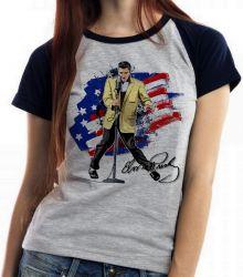 Blusa Feminina  Elvis Presley bandeira EUA