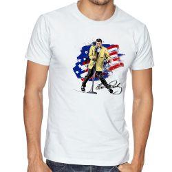 Camiseta Elvis Presley bandeira EUA