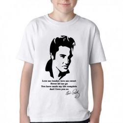 Camiseta Infantil Elvis Presley Love me tender