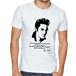 Camiseta Elvis Presley Love me tender