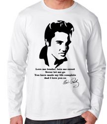 Camiseta Manga Longa Elvis Presley Love me tender