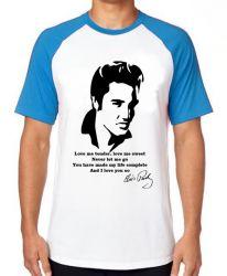 Camiseta Raglan Elvis Presley Love me tender