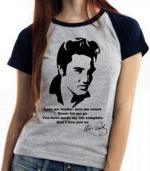 Blusa Feminina  Elvis Presley Love me tender