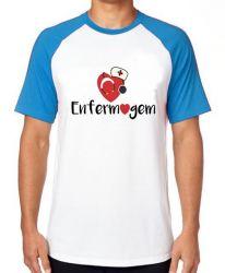 Camiseta Raglan Enfermagem love esteto