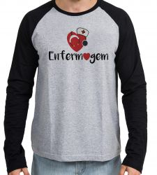 Camiseta Manga Longa Enfermagem love esteto