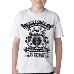 Camiseta Infantil Melhores Enfermeiras