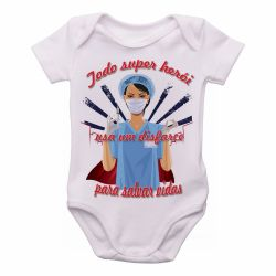 Roupa  Bebê Enfermeira super herói salvar vidas