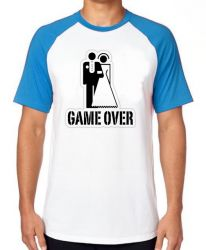 Camiseta Raglan Game Over