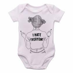 Roupa  Bebê Odeio todos