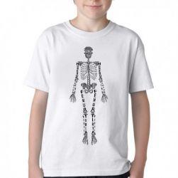 Camiseta Infantil Esqueleto humano