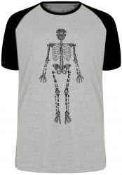 Camiseta Raglan Esqueleto humano