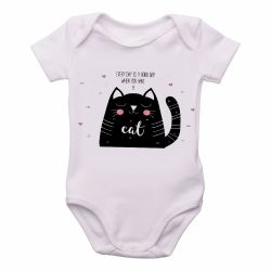 Roupa  Bebê Every day is a good day when you have a cat