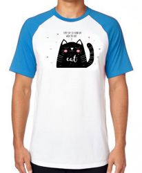 Camiseta Raglan Every day is a good day when you have a cat