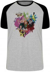 Camiseta Raglan Gravity Falls personagens