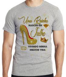 Camiseta Infantil Uma rainha nasceu