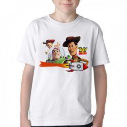 Camiseta Infantil Toy Story Woody Buzz Jessy