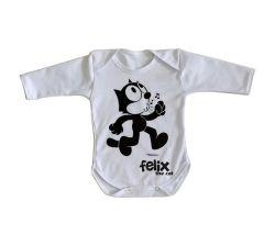 Roupa Bebê manga longa Félix O Gato