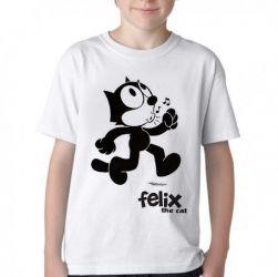 Camiseta Infantil  Félix O Gato