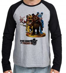 Camiseta Manga Longa Five Nights at Freddy