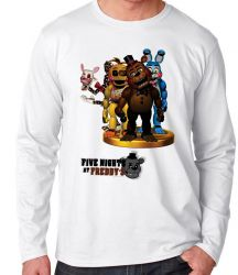 Camiseta Manga Longa Five Nights at Freddy's group