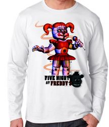 Camiseta Manga Longa Five Nights at Freddy's Circusbaby
