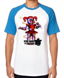Camiseta Raglan Five Nights at Freddy's Circusbaby