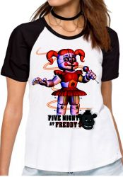 Blusa Feminina Five Nights at Freddy's Circusbaby