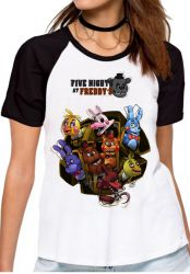 Blusa Feminina Five Nights at Freddy's Personagens