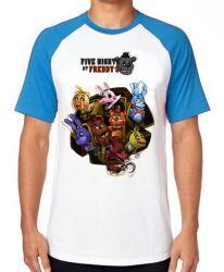 Camiseta Raglan Five Nights at Freddy's Personagens