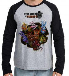 Camiseta Manga Longa Five Nights at Freddy