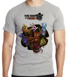 Camiseta Infantil  Five Nights at Freddy's Personagens