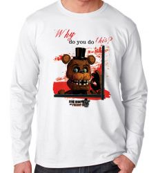 Camiseta Manga Longa Five Nights at Freddy's Toy Freddy