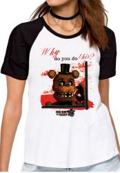 Blusa Feminina Five Nights at Freddy's Toy Freddy