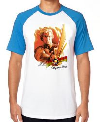 Camiseta Raglan  Flash Gordon Morte ao Ming!