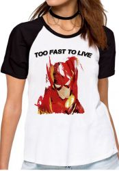 Blusa Feminina Flash Too Fast to live