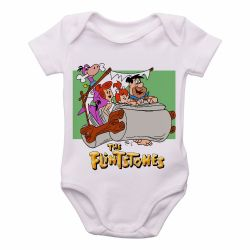 Roupa Bebê   Flinstones carro