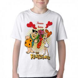 Camiseta Infantil  Flinstones Forever Lovers