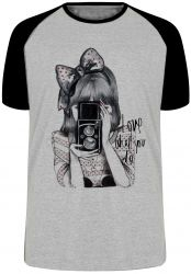 Camiseta Raglan Fotógrafo love what you do