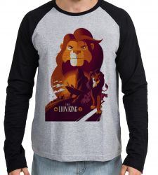 Camiseta Manga Longa Rei Leão personagens