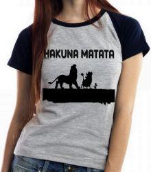 Blusa Feminina  Rei Leão Hakuna Matata