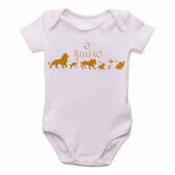 Roupa Bebê Rei Leão dourado