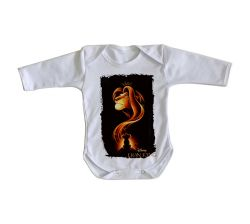 Roupa Bebê manga longa Rei Leão Mufasa Simba