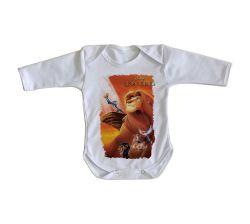 Roupa Bebê manga longa Rei Leão Simba