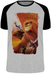 Camiseta Raglan Rei Leão Simba