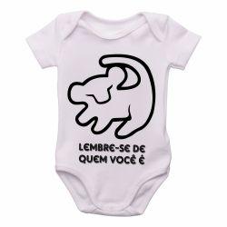Roupa Bebê Rei Leão Simba Lembre-se de quem você é